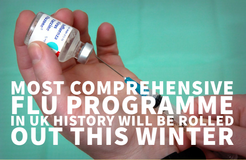 Most comprehensive flu programme in UK history will be rolled out this winter