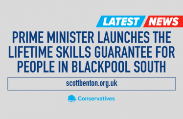 The Prime Minister launches the Lifetime Skills Guarantee for people in Blackpool South